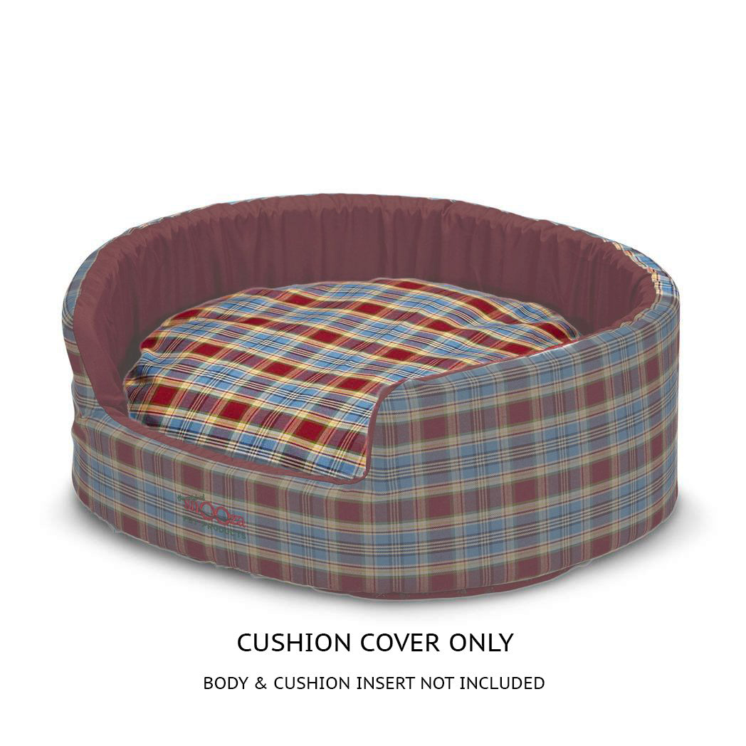 Buddy Bed Cushion Cover Red/Blue Tartan