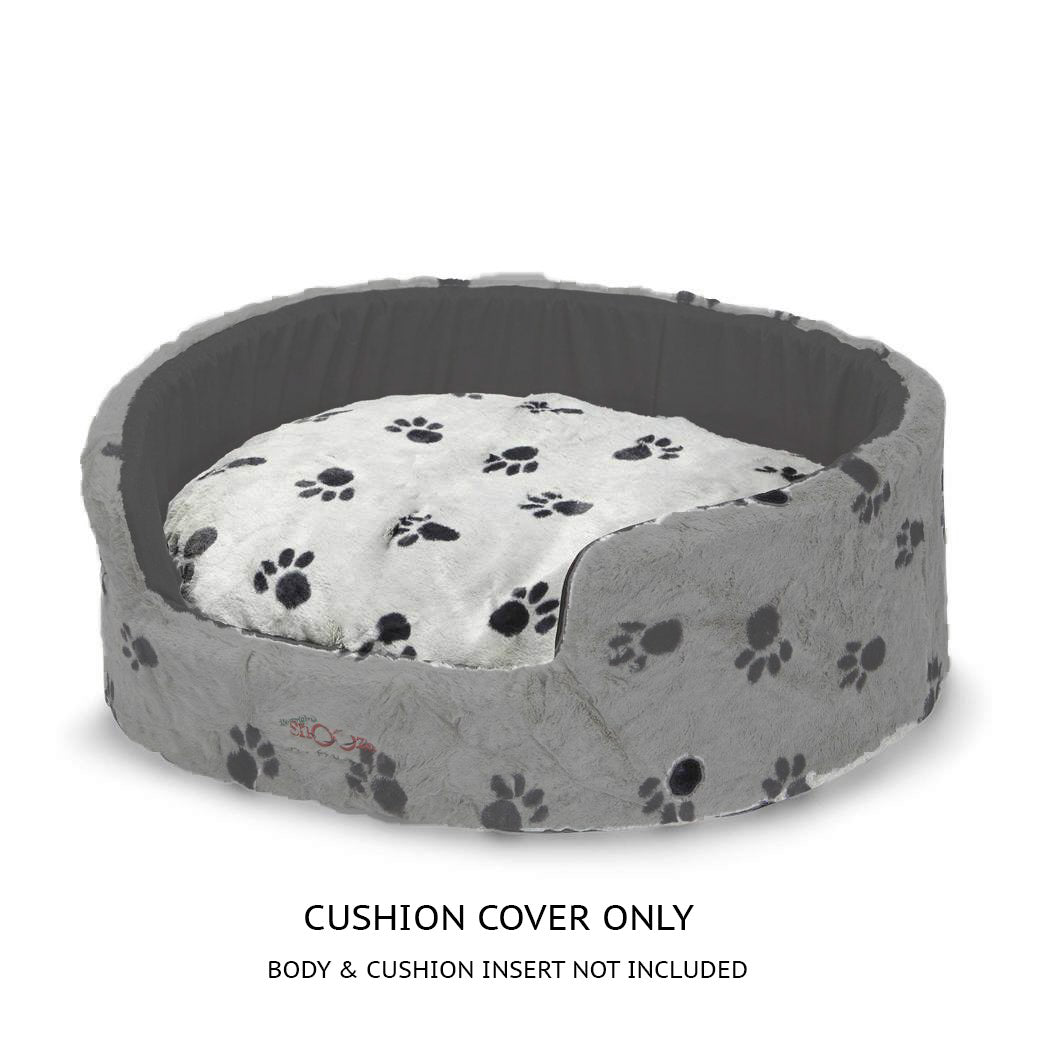 Buddy Bed Cushion Cover Silver/Black