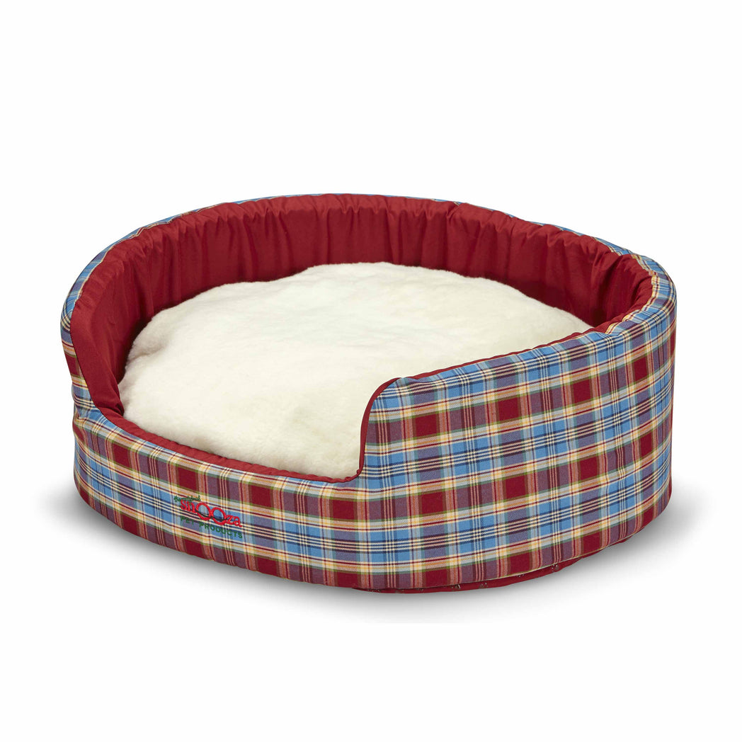 Buddy Bed Woolly Red/Blue Tartan