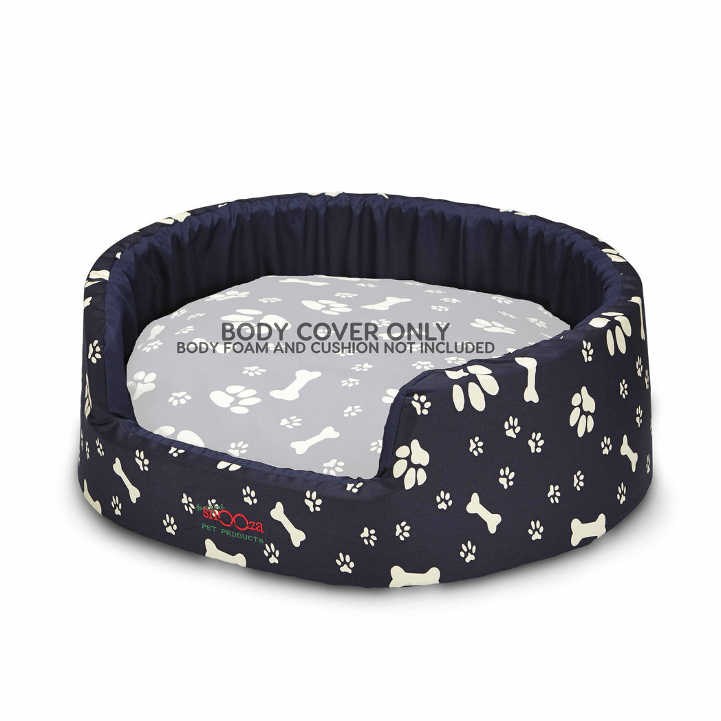 Buddy Bed Body Cover Paws N Bones Navy