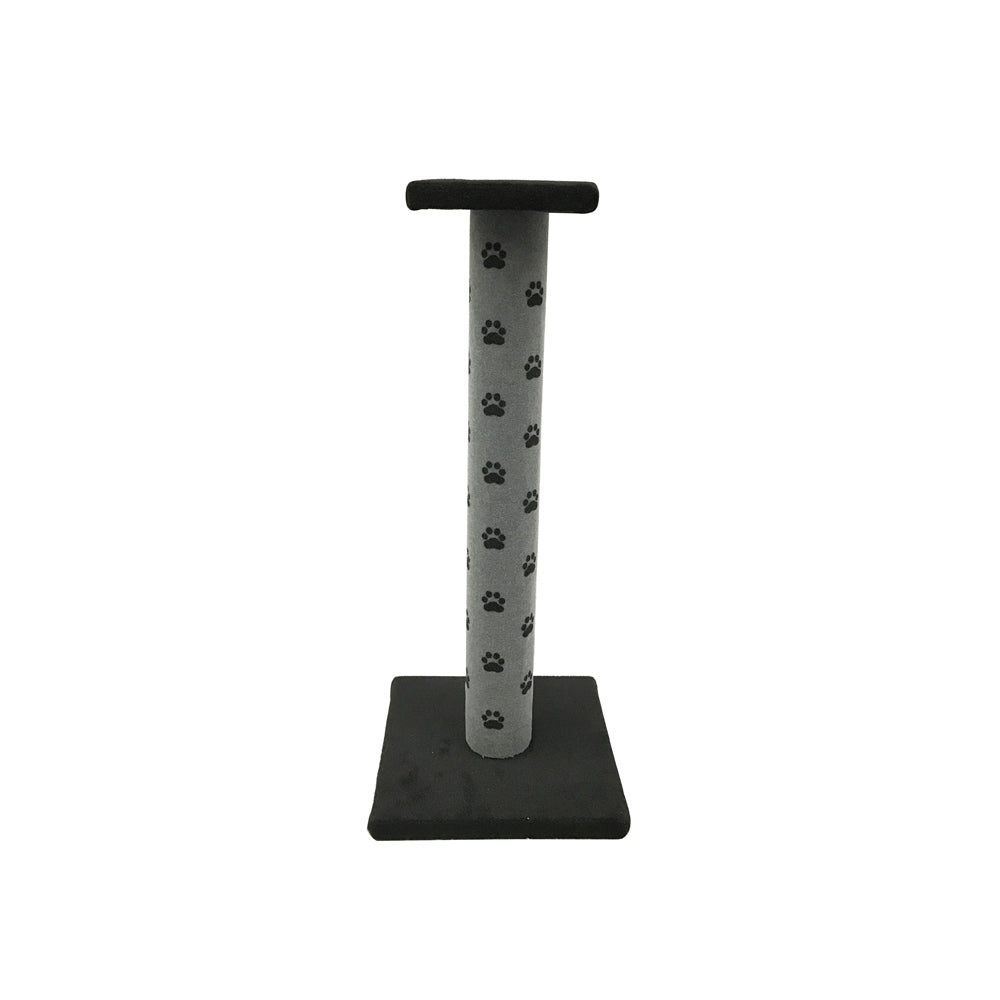 Cat Scratching Pole with Platform Grey