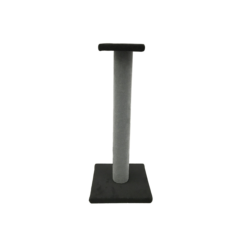 Cat Scratching Pole with Platform Grey Plain