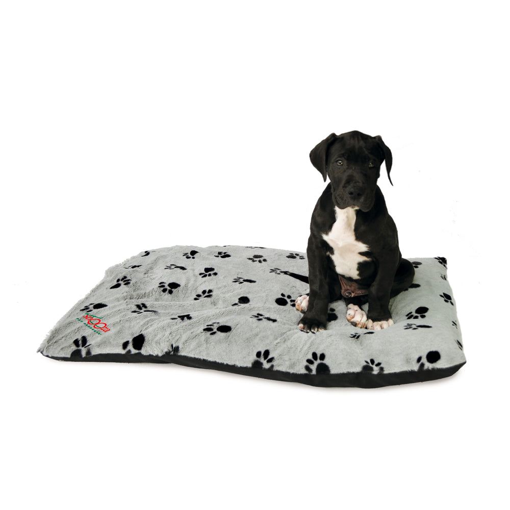 Pet Futon Silver/Black Paws