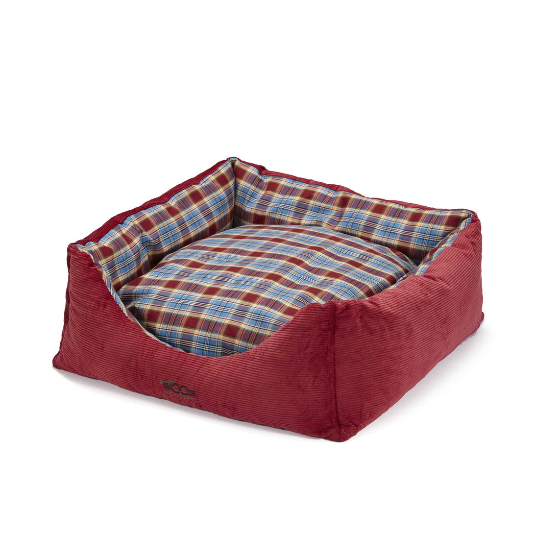 Jacks Bed Red/Blue Tartan