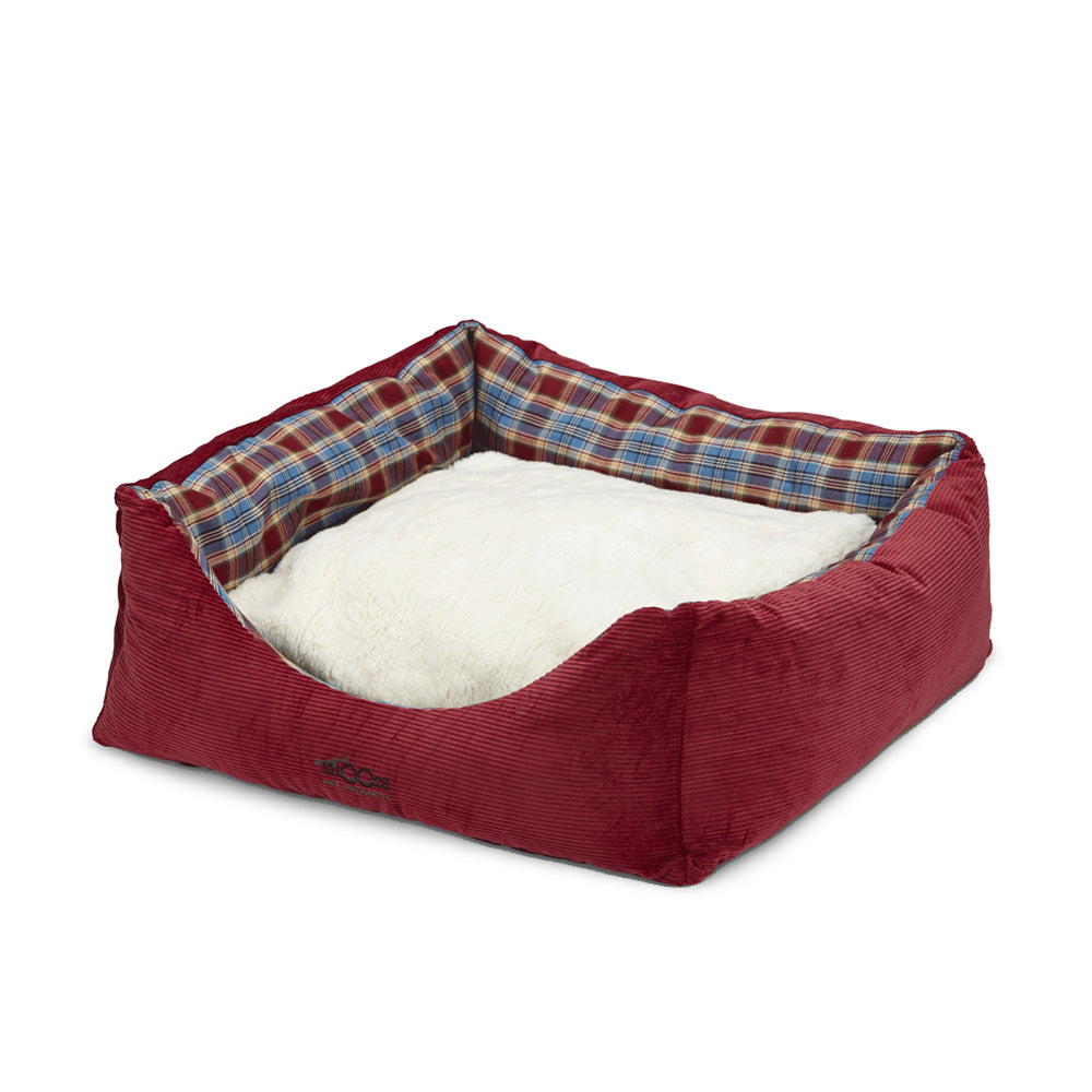 Jacks Bed Woolly Red/Blue Tartan