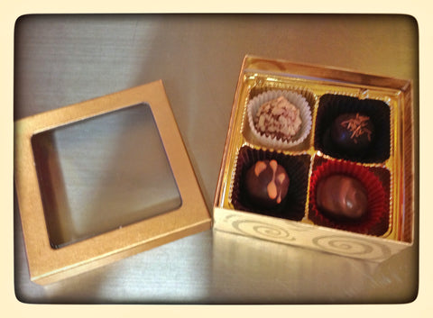 4 Piece Chocolate Box