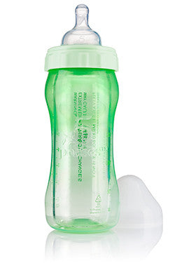 5 phases 8oz. Fully Assembled Hybrid Glass Baby Bottle