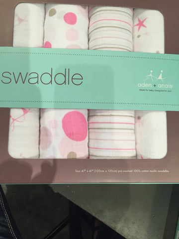 Aden + Anais cotton swaddle