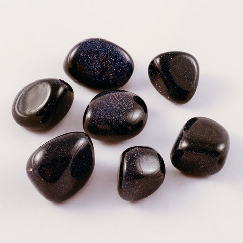 Blue Goldstone Tumbled (1 crystal)