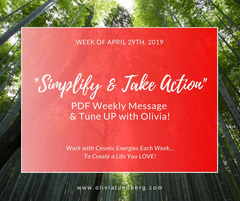 April 29th, 2019: PDF Weekly Message & Tune Up With Olivia!