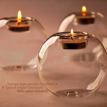 Load image into Gallery viewer, Hanging Tealight Holder Glass Globes