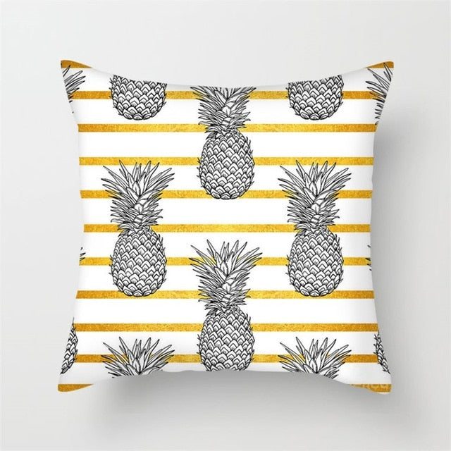 Fuwatacchi Leaf Scenery Printed Pillow Cover