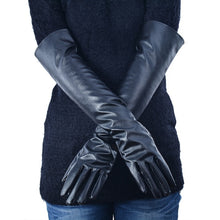Load image into Gallery viewer, Long Faux Leather Gloves