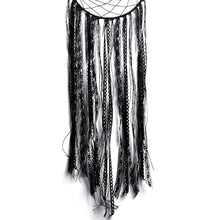 Load image into Gallery viewer, Decorative Crescent Black Dream Catcher