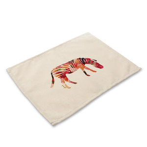 Animal Cotton Linen Table Mats