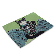 Load image into Gallery viewer, Cat Pattern Rectangle Table Mat