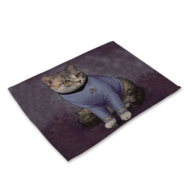 Cat Pattern Rectangle Table Mat