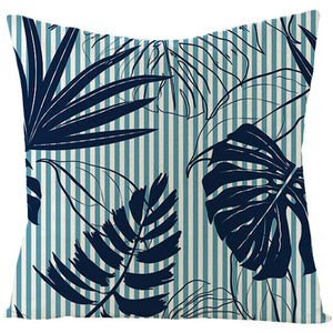 Green Striped Throw Pillow Cover