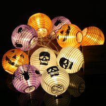 Load image into Gallery viewer, Pumpkin 10 LED String Lights