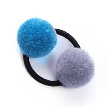 Load image into Gallery viewer, Cute Faux Rabbit Fur Ball Elastic Hair Rings