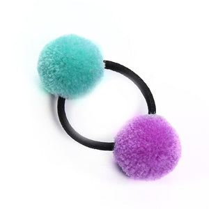 Cute Faux Rabbit Fur Ball Elastic Hair Rings