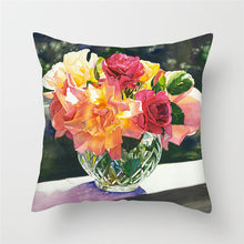 Load image into Gallery viewer, Bright Floral Oil Paintings Cushion Cover
