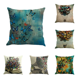 Butterfly Painting Decorative Pillowcases