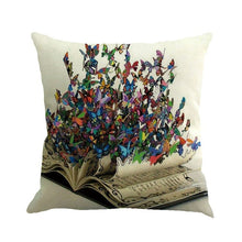 Load image into Gallery viewer, Butterfly Painting Decorative Pillowcases