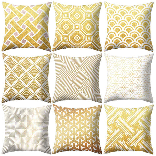 Geometric Printed  Throw Pillow Case