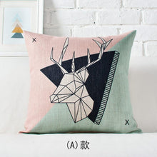 Load image into Gallery viewer, Nordic Deer Printed Cushion Cover