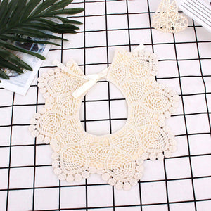 Cotton Baby Bibs With Lace