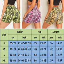 Load image into Gallery viewer, High Waist Snake Skin Print Shorts