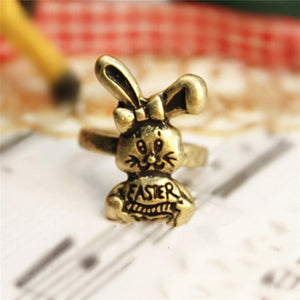 Vintage Cute Rabbit Finger Rings