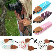 Load image into Gallery viewer, Universal Retro Polka Dots Blue Shoulder Belt