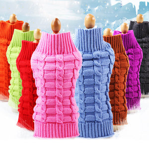 Classic Cable Knit Dog Clothes