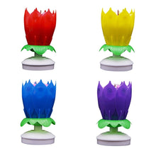 Load image into Gallery viewer, Rotating Lotus Flower Birthday Candle