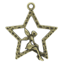 Load image into Gallery viewer, Stars Antique Bronze Angel Pendant