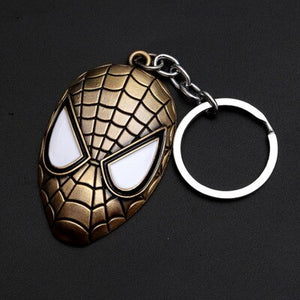 Spider Man Mask Key Ring
