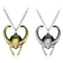 Load image into Gallery viewer, Loki Helmet Necklaces