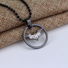 Load image into Gallery viewer, Batman Round Pendant Necklace