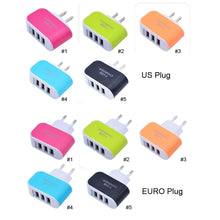 Load image into Gallery viewer, Plug 3Ports USB Travel Wall Smart Charger