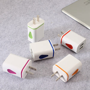 LED Light 2 USB Ports Adapter