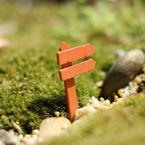 Wood Signpost Fence
