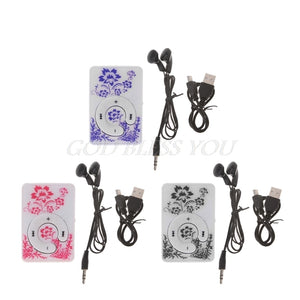 Floral Pattern Music MP3 Player