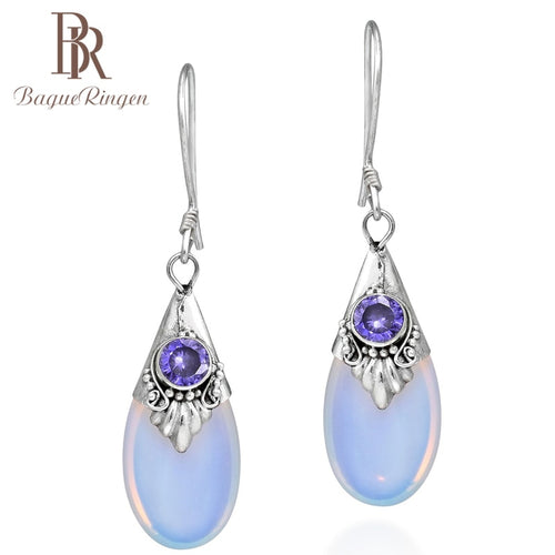Moonstone Dangle Drop Earring
