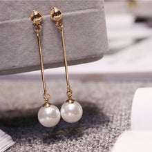 Load image into Gallery viewer, Imitation Pearl Tassel Earrings