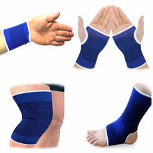 Load image into Gallery viewer, Elasticated Blue Knee Pads
