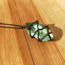 Load image into Gallery viewer, Blue-green Stone Fluorite Ornament