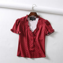 Load image into Gallery viewer, Women Front  Button Printed Blouse