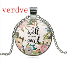 Load image into Gallery viewer, Quote Lettering Necklace